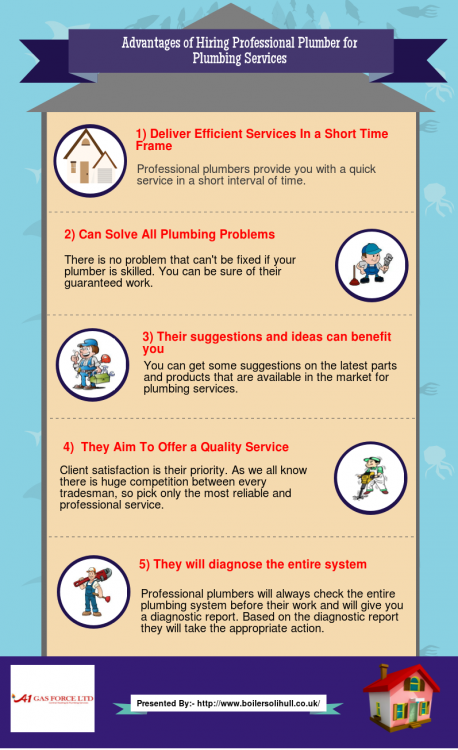 Advantages Of Hiring Professional Plumber For Plumbing Services Visual Ly