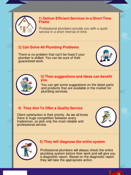 Advantages of Hiring Professional Plumber for Plumbing Services Infographic