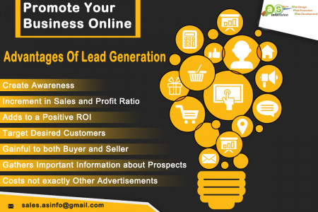 Advantages of Lead Generation Infographic