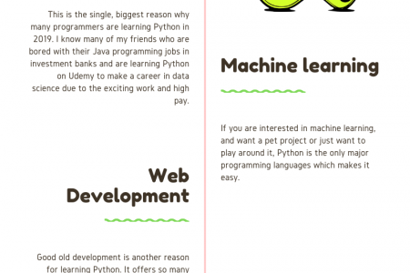 Advantages of Learning Python Programming Language Infographic