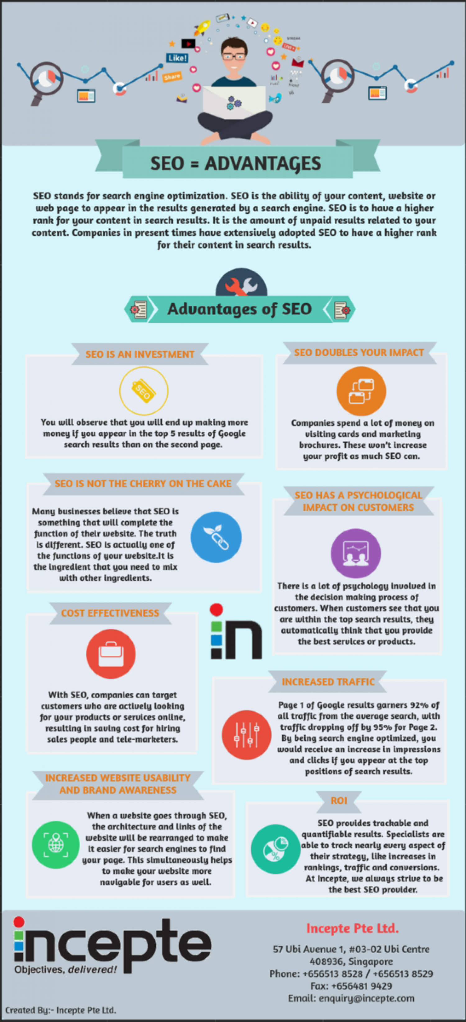 Advantages of SEO or Search Engine Optimization Infographic