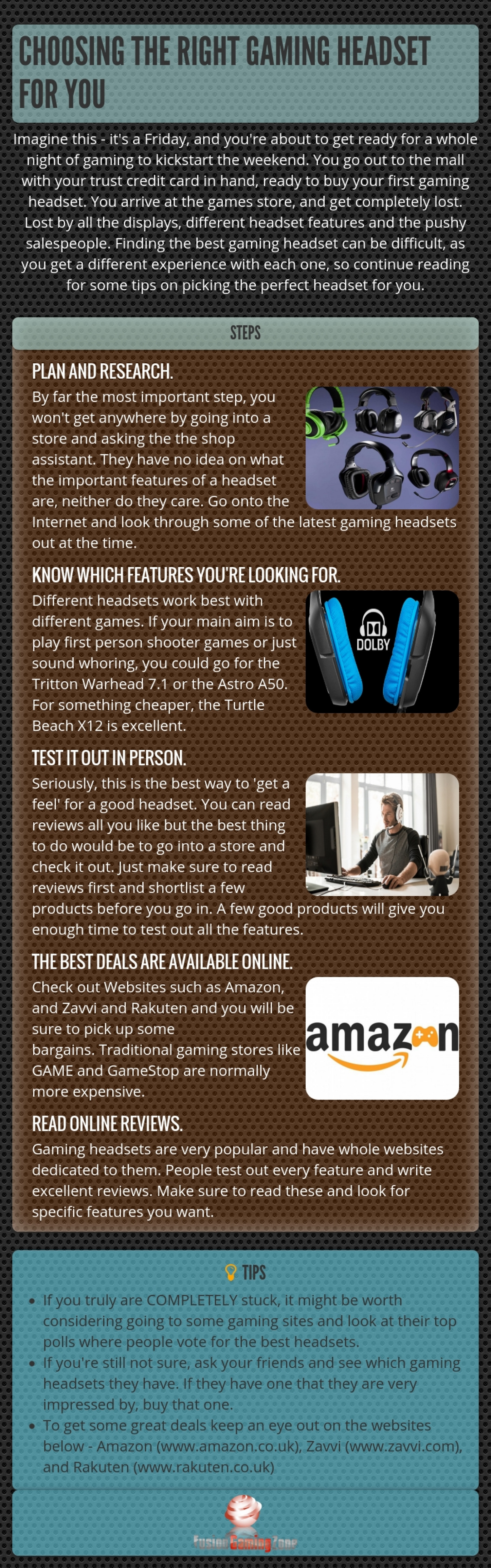 Advice on Choosing the Right Gaming Headset Infographic