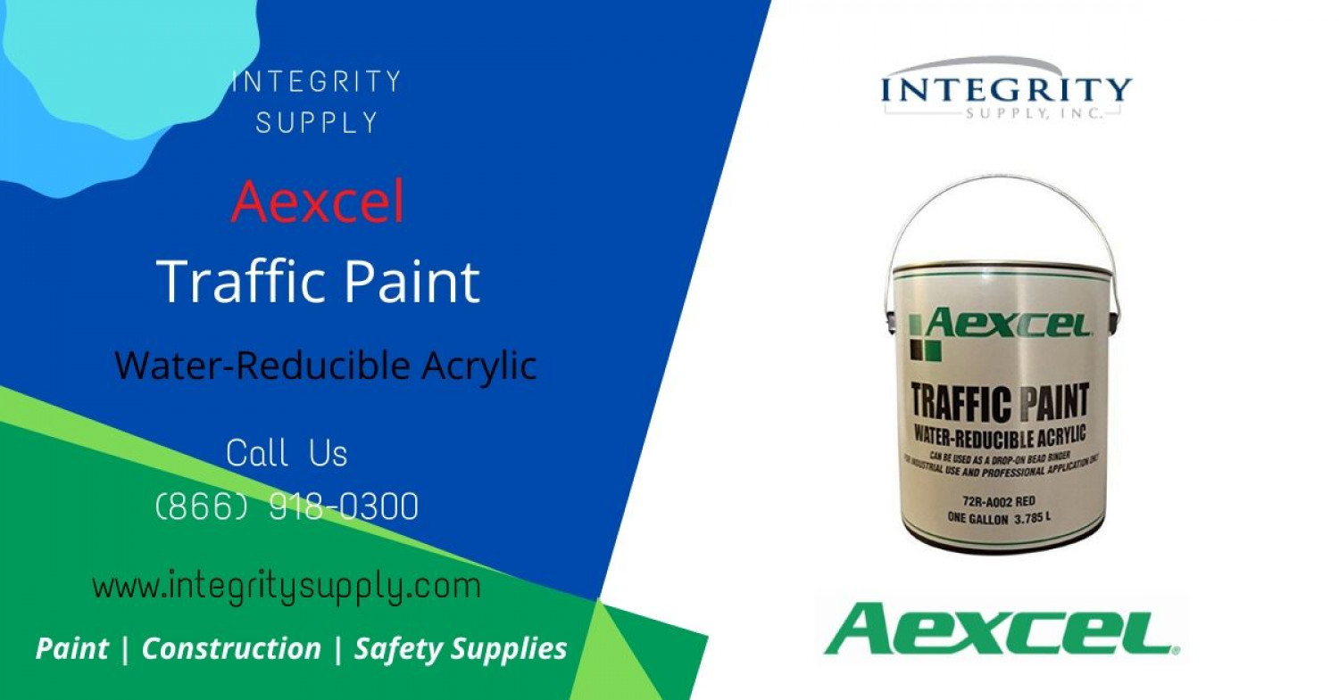 Aexcel Water-Reducible Acrylic Traffic Paint Infographic