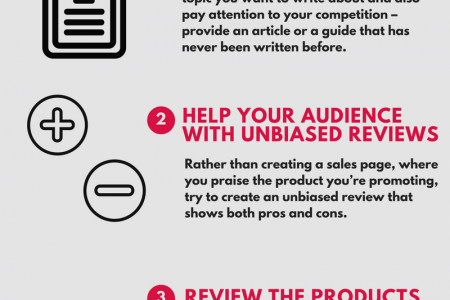 Affiliate Marketing - 3 tips for beginners Infographic