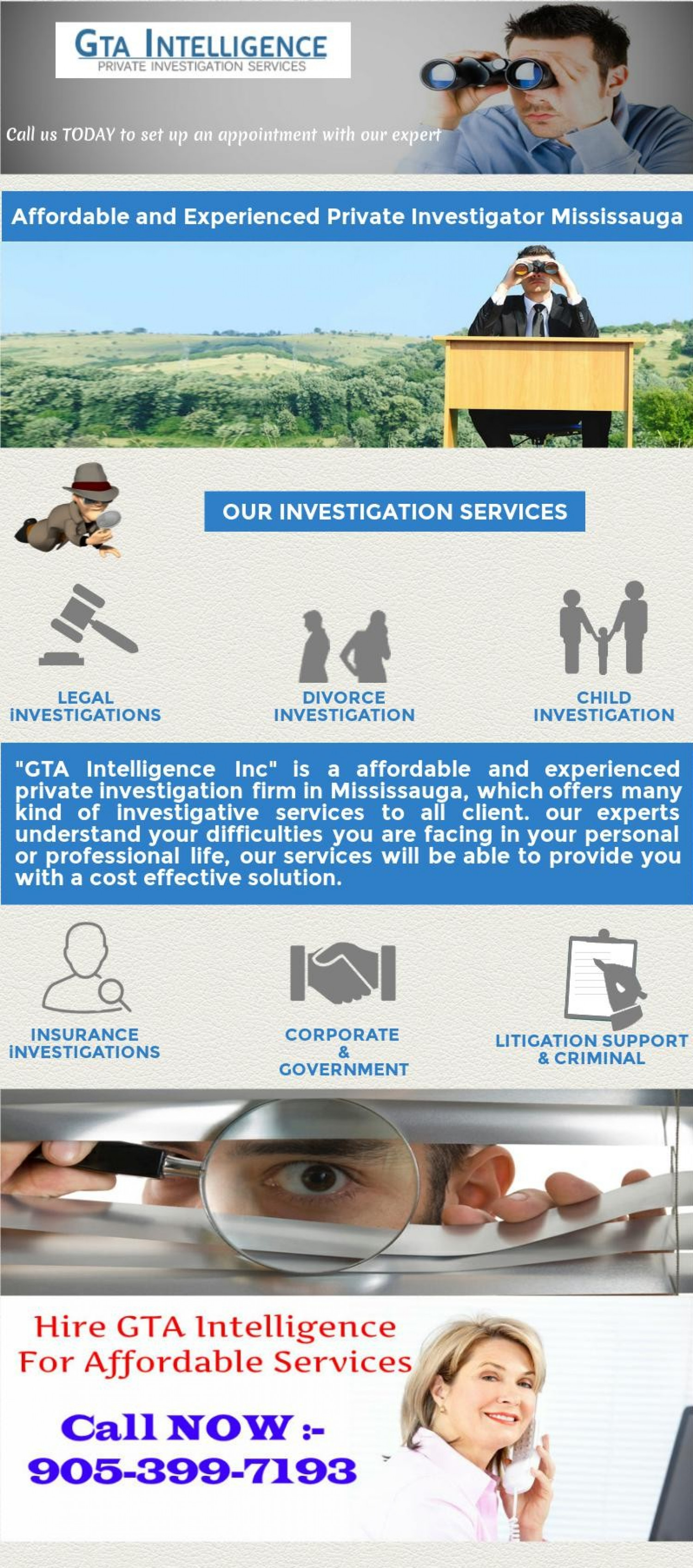Affordable and Experienced Private Investigator Mississauga