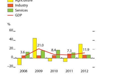Afghanistan - GDP growth Infographic