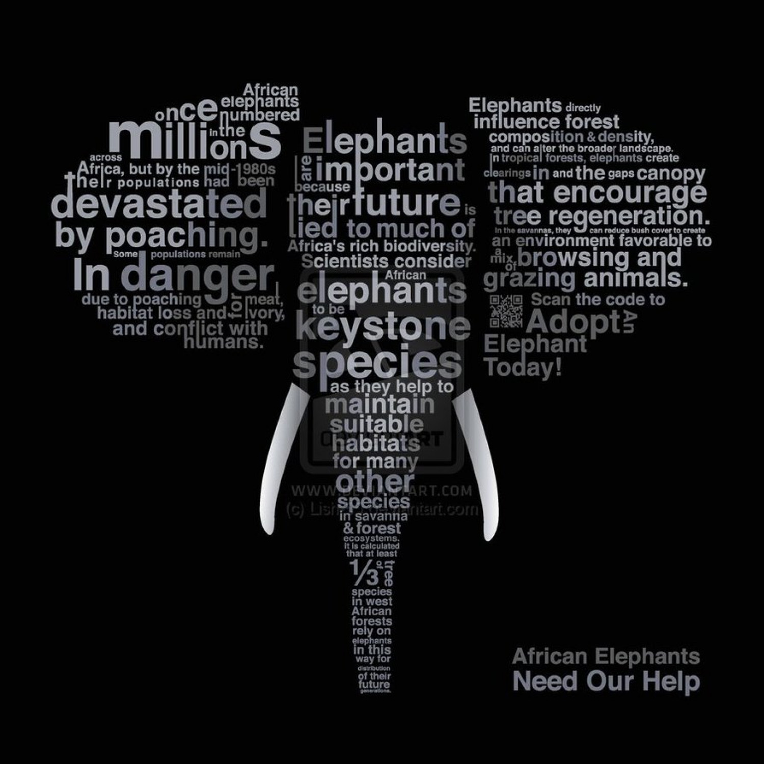 African elephants need our help Infographic