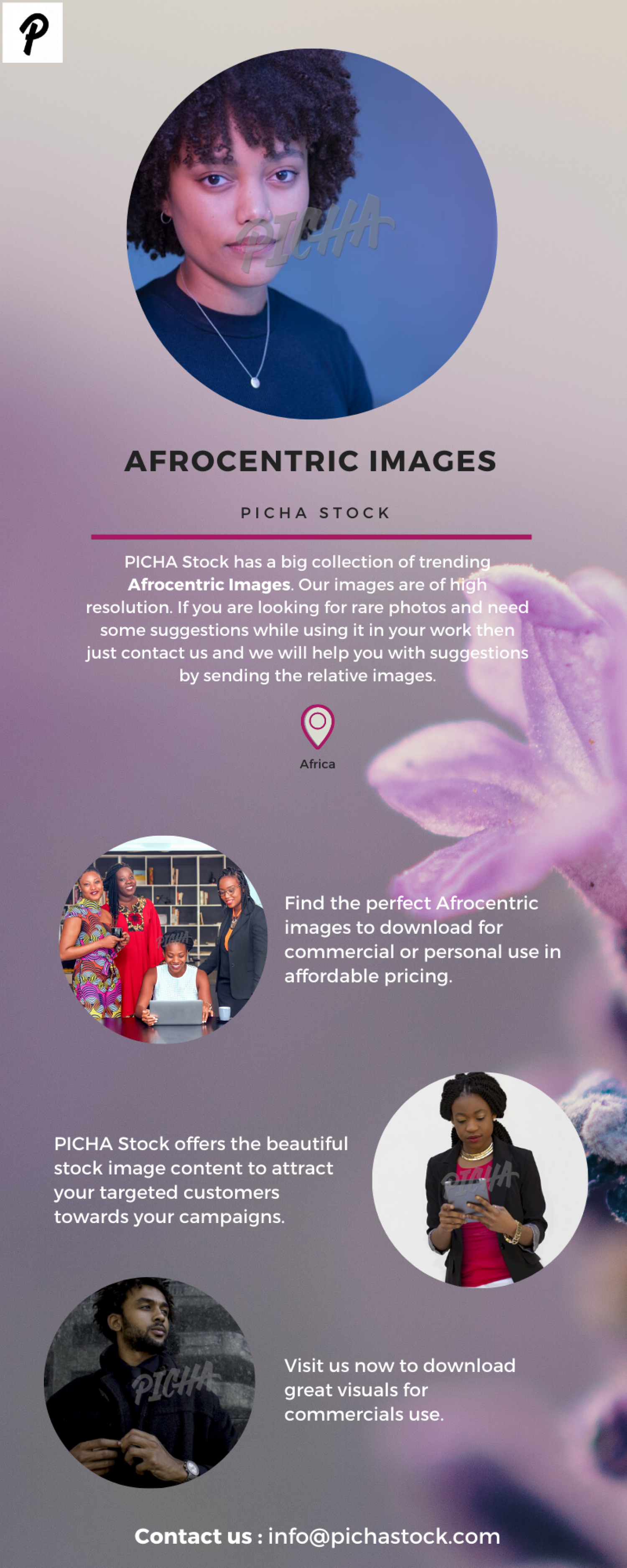 Afrocentric Images | PICHA Stock Infographic