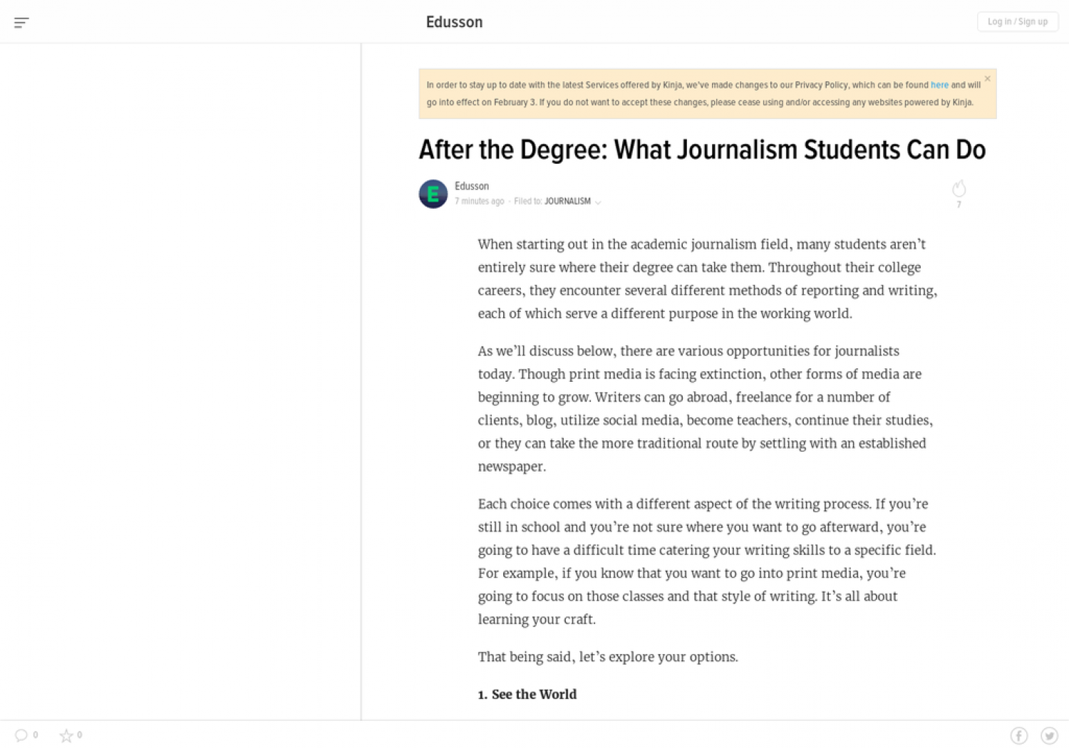 After the Degree: What Journalism Students Can Do Infographic