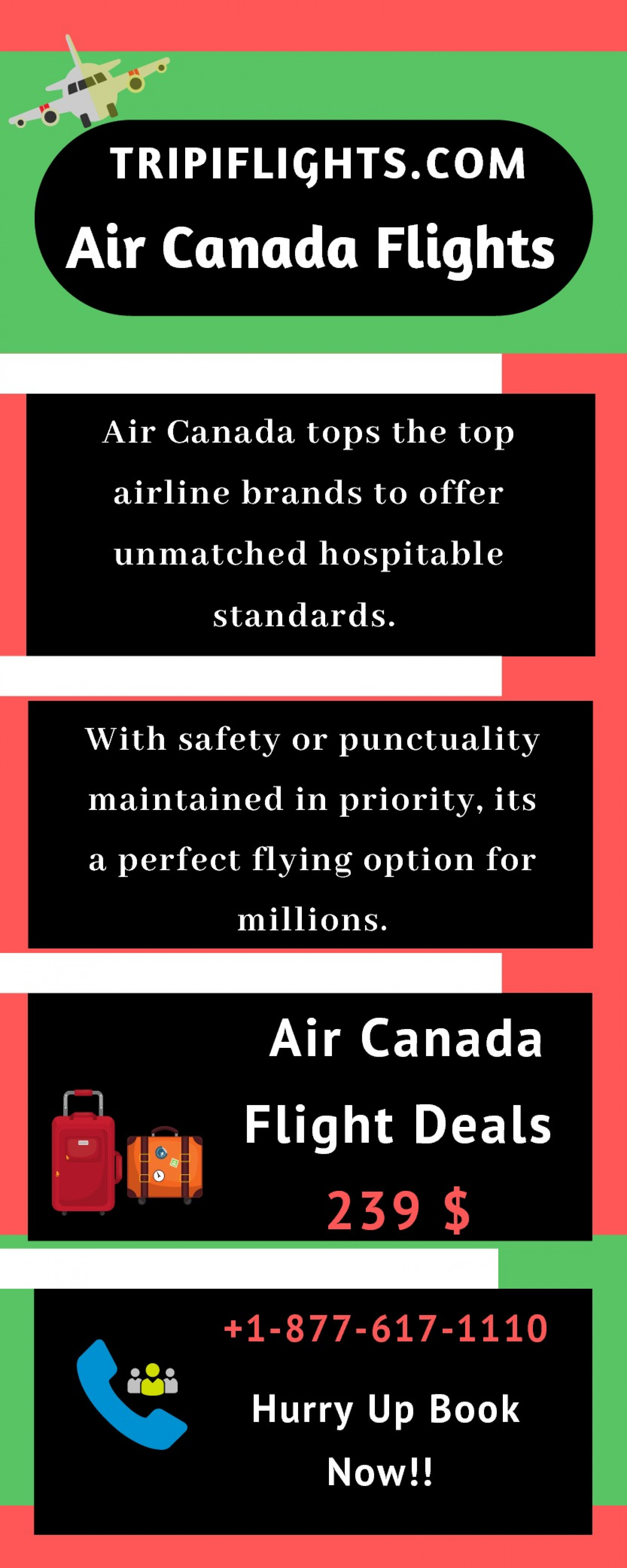 Air Canada Cheap Flights - Air Canada International Flights -Hurry Up!! Infographic