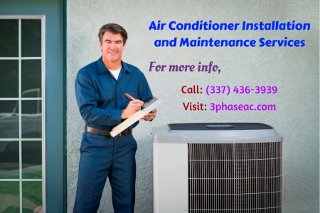 Air Conditioner Installation and Maintenance Services Infographic