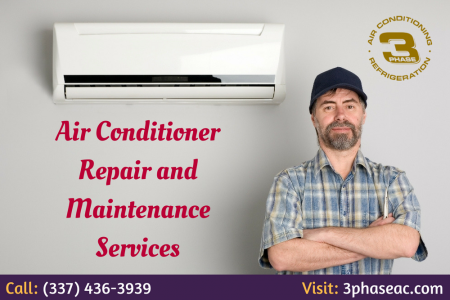 Air conditioner repair and maintenance services Infographic