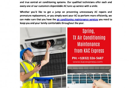 Air Conditioning Maintenance - KAC Express Infographic