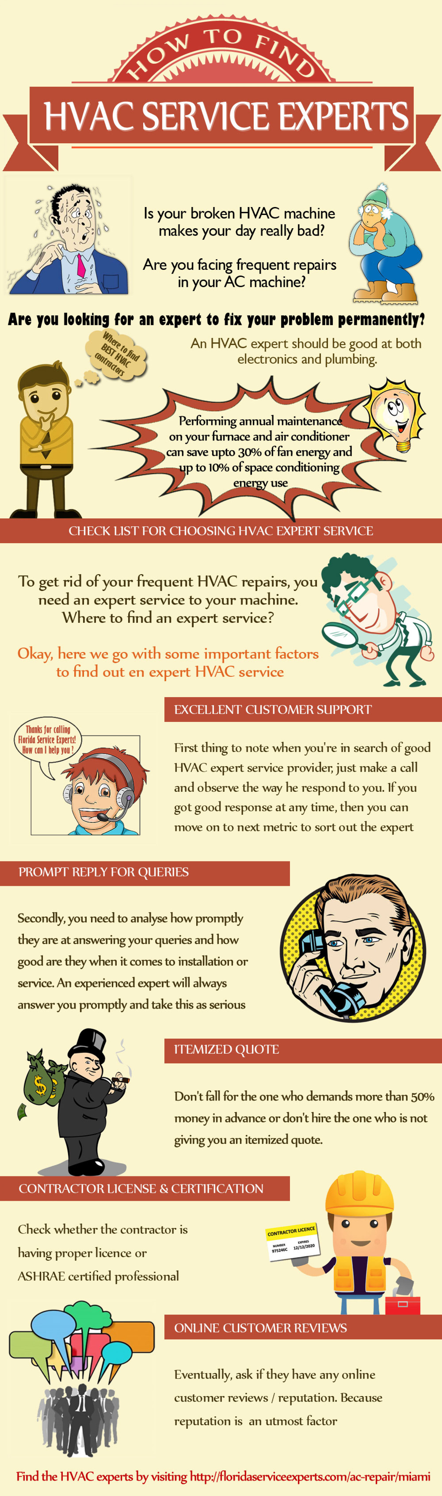 How to Find HVAC Service Experts Infographic