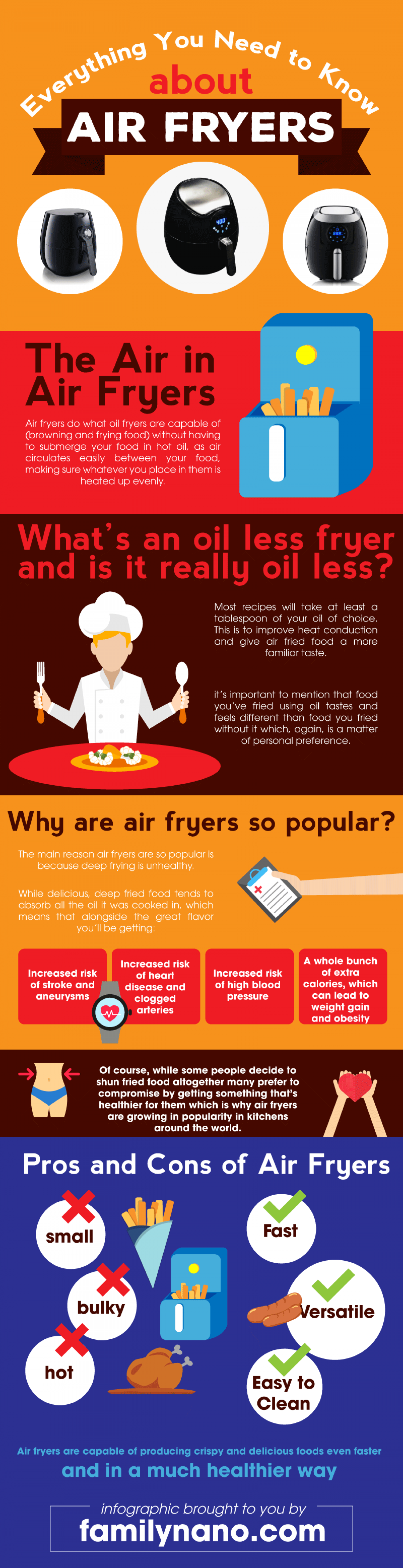 Air Fryer Infographic  - Everything You Need to Know About Air Fryers Infographic