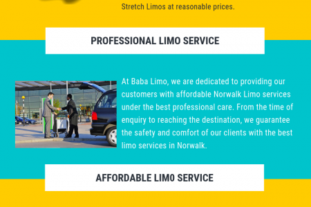 Airport Limo service in Norwalk - Baba Limo Infographic