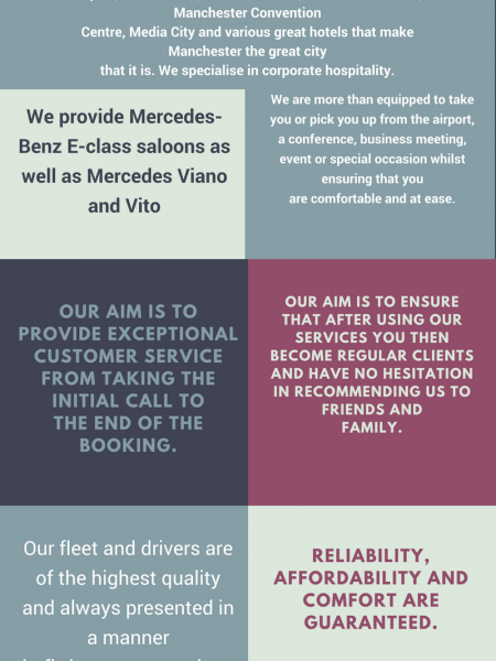 Airport taxi Manchester Infographic