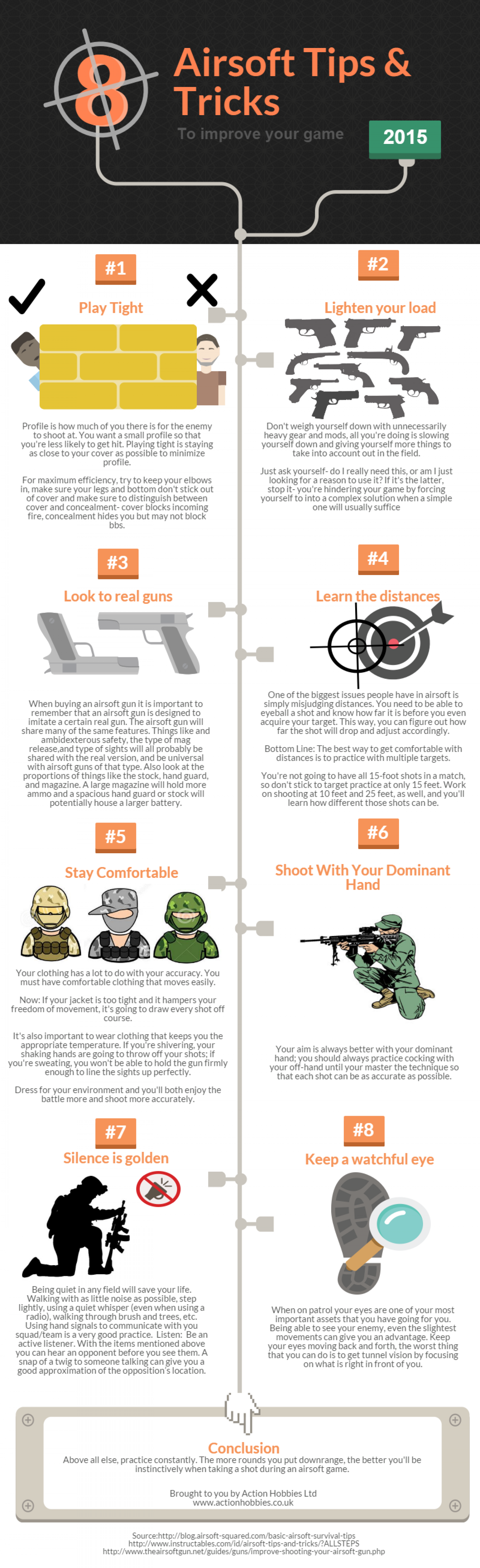 Airsoft Tips & Tricks Infographic