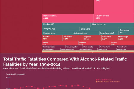 Alcohol-Related Traffic Fatalities in the United States Infographic