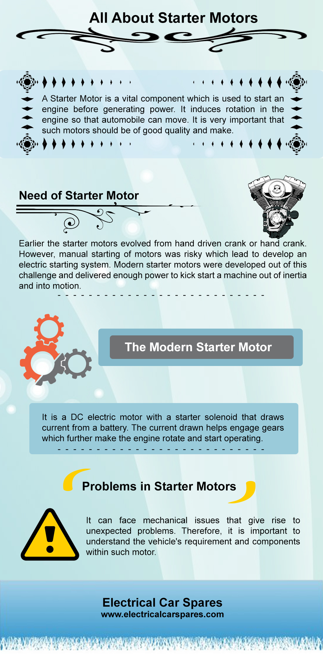 All About Starter Motors | Visual ly