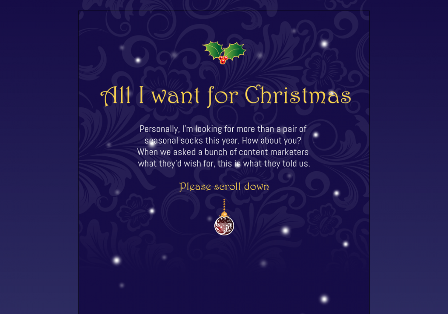 All I want for Christmas | Visual.ly