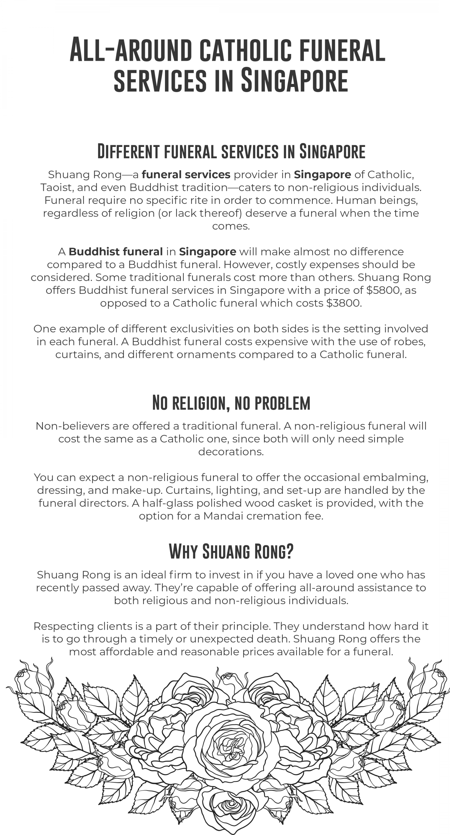 All-around buddhist funeral services in Singapore Infographic