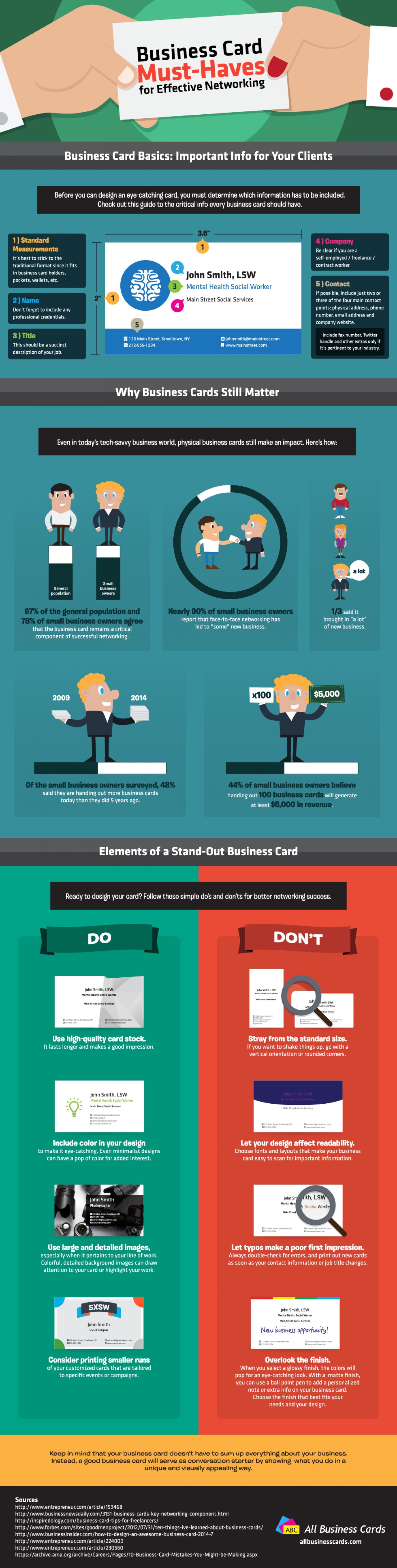 Business Card Must Haves For Effective Networking Infographic