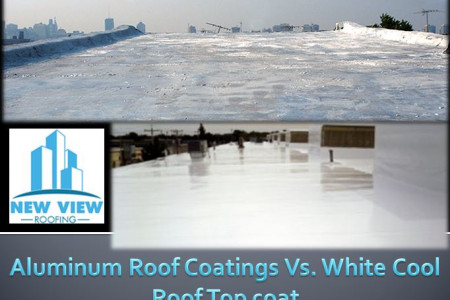 Aluminum Roof Coatings Vs. White Cool Roof Top coat Infographic