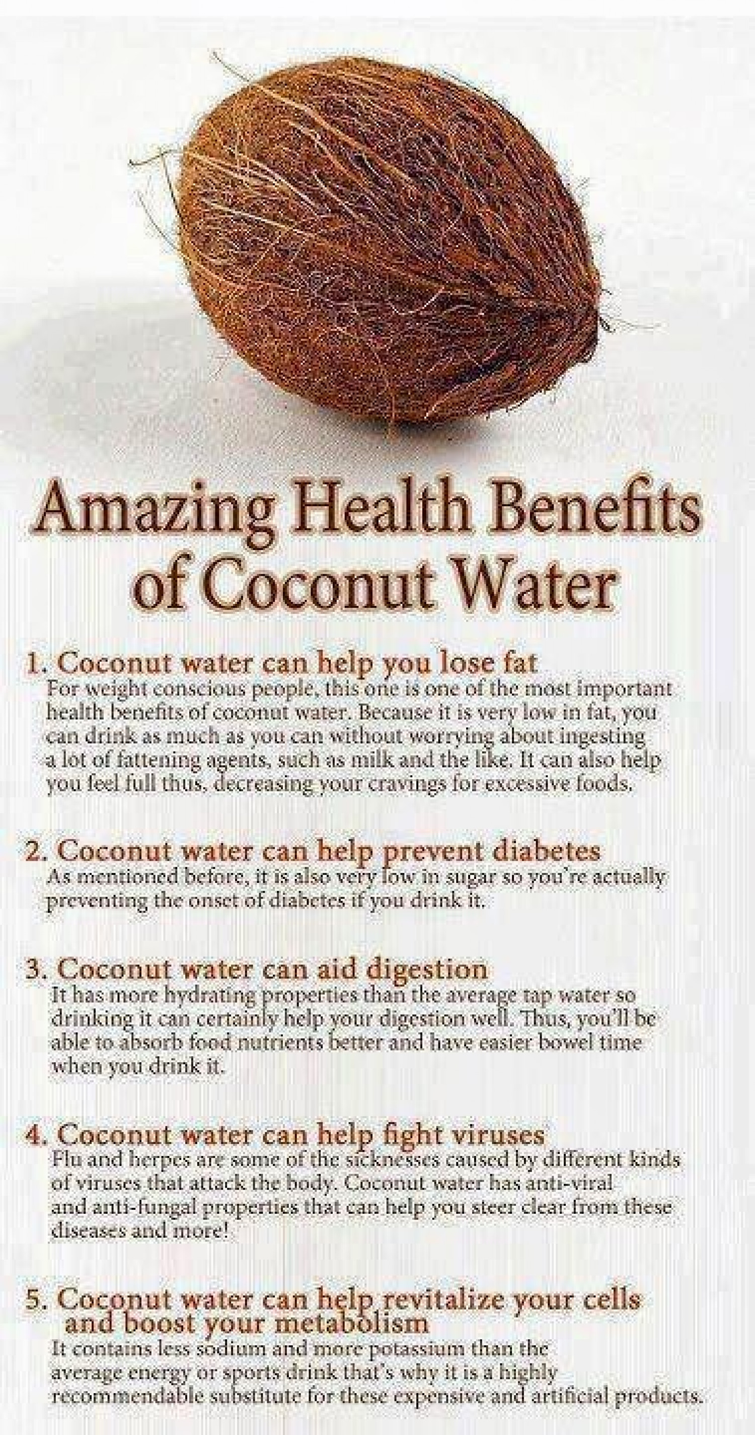 is coconut water good for diet