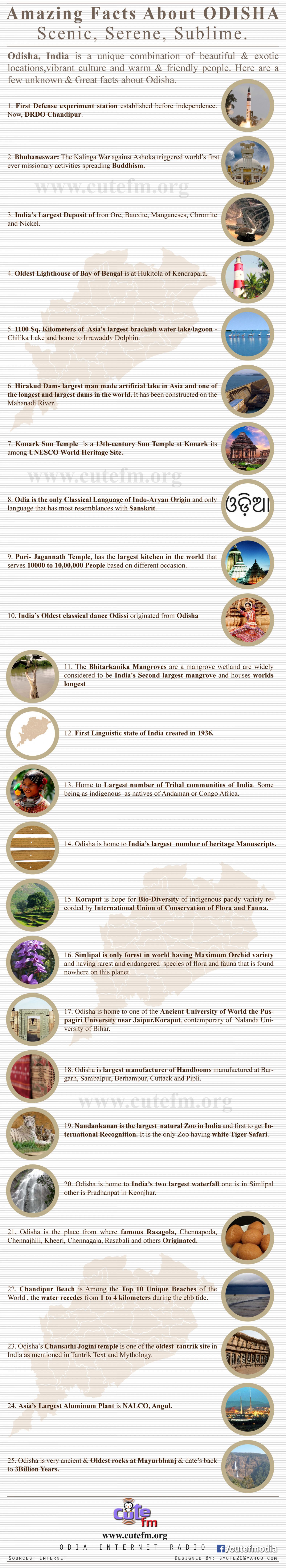 Amazing Facts About ODISHA Infographic