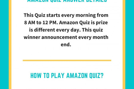 Amazon Quiz Answer Today Infographic