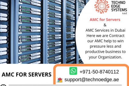 AMC for Servers provided by IT AMC Support Infographic