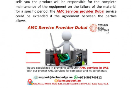 AMC Service Provider Dubai for your computers Infographic