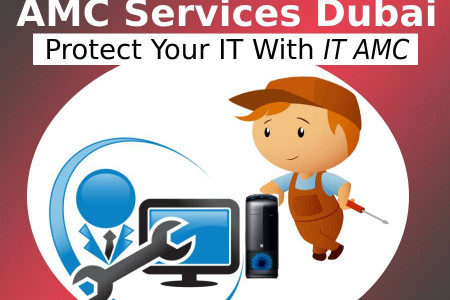 AMC Services Dubai | Protect Your IT With IT AMC‎ Infographic