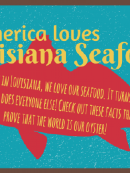 America Loves Louisiana Seafood Infographic