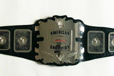 American Heavyweight Wrestling Championship Belt Replica Infographic