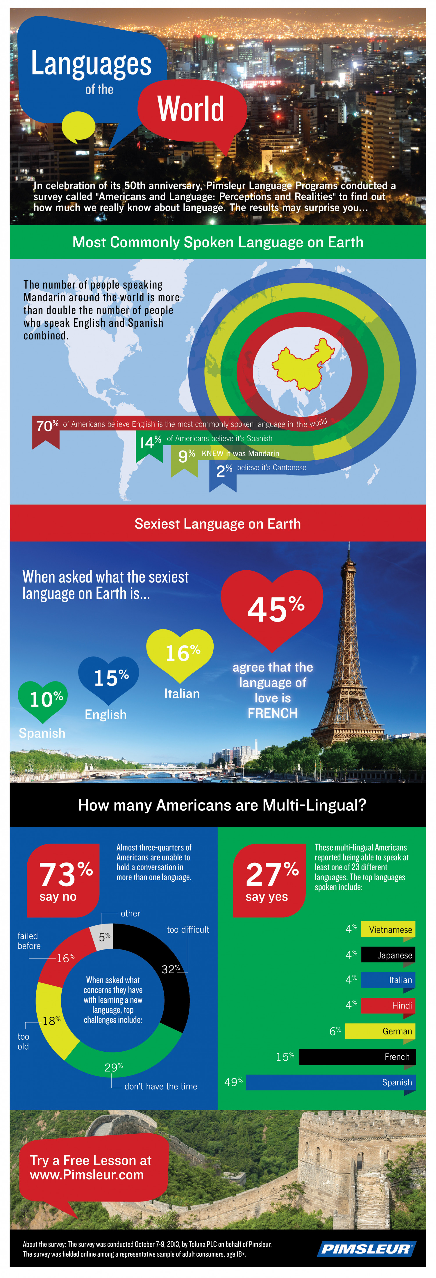 Americans and Language: Perceptions and Realities Infographic