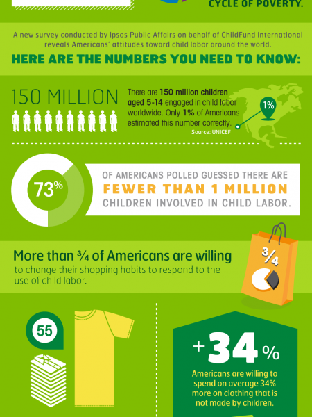 Americans' Views of Child Labor Around the World Infographic