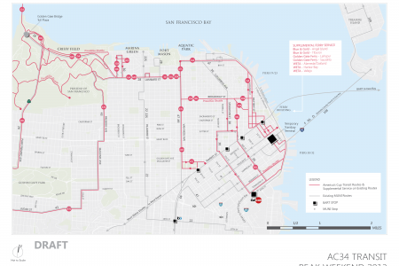 America's Cup 34 San Francisco 2013 Peak Weekend Transit Infographic