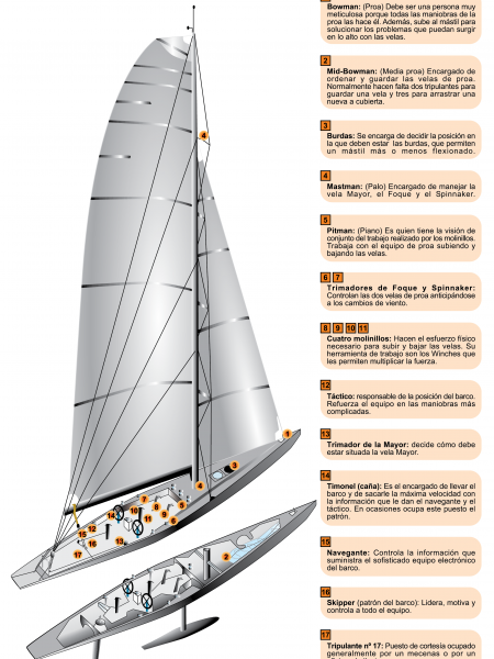 America's Cup IACC Boat Infographic