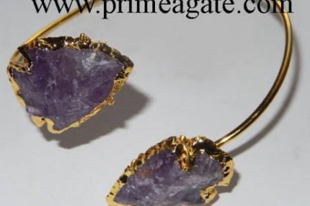 Amethyst Electroplated Arrowhead Bangle Infographic