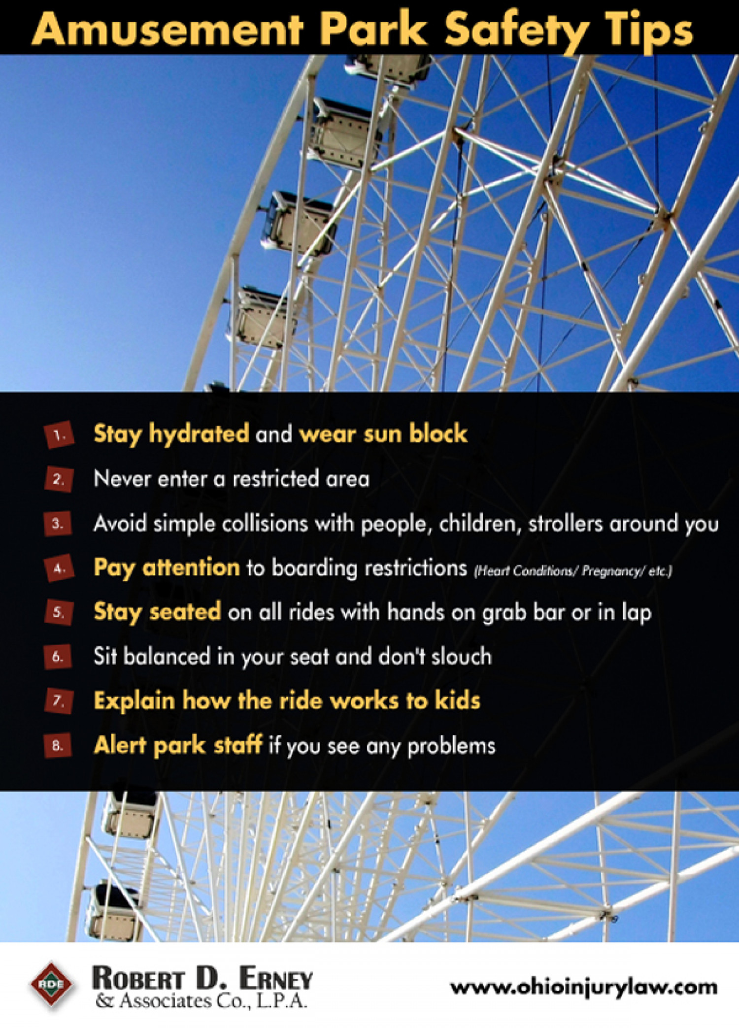 Amusement Park Safety Tips Infographic