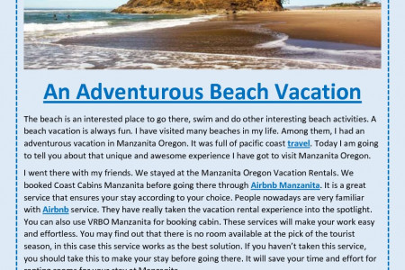 An Adventurous Beach Vacation Infographic