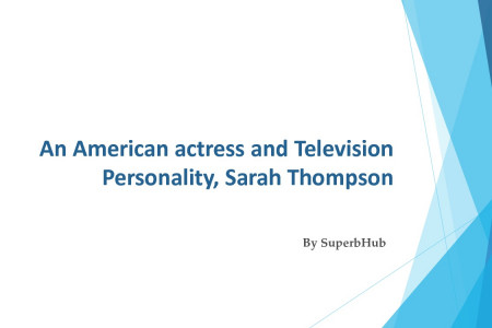 An American actress and Television Personality, Sarah Thompson's Net Worth, Movies, Marriage, Children Infographic