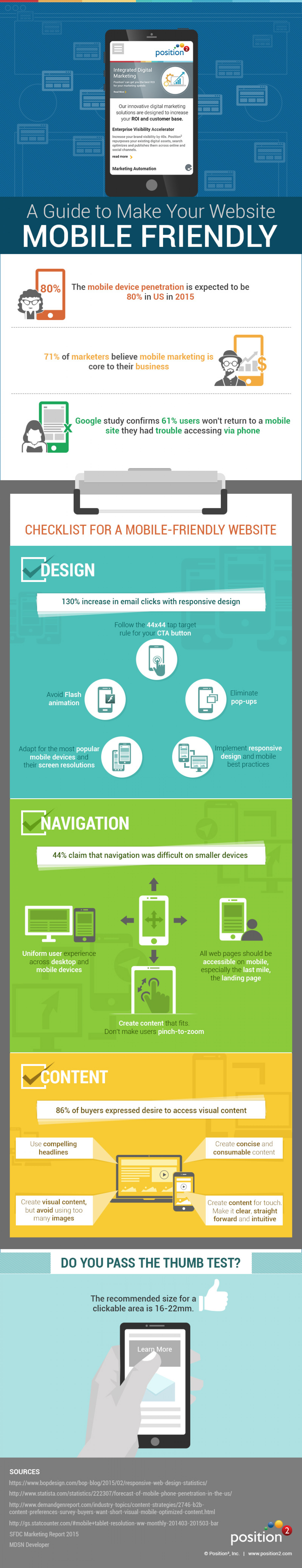 An Infographic Guide to Optimize Your Website for Mobile | Position2 Infographic