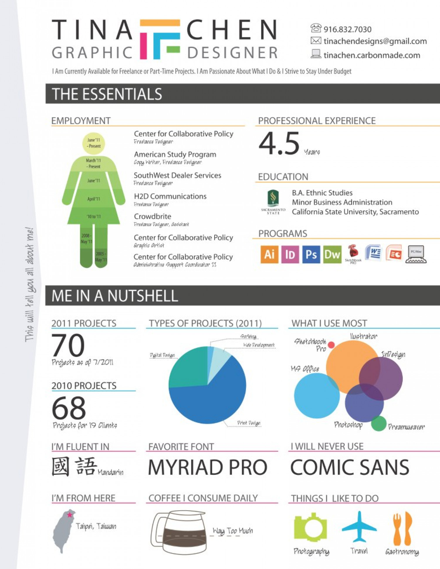 an infographic resume
