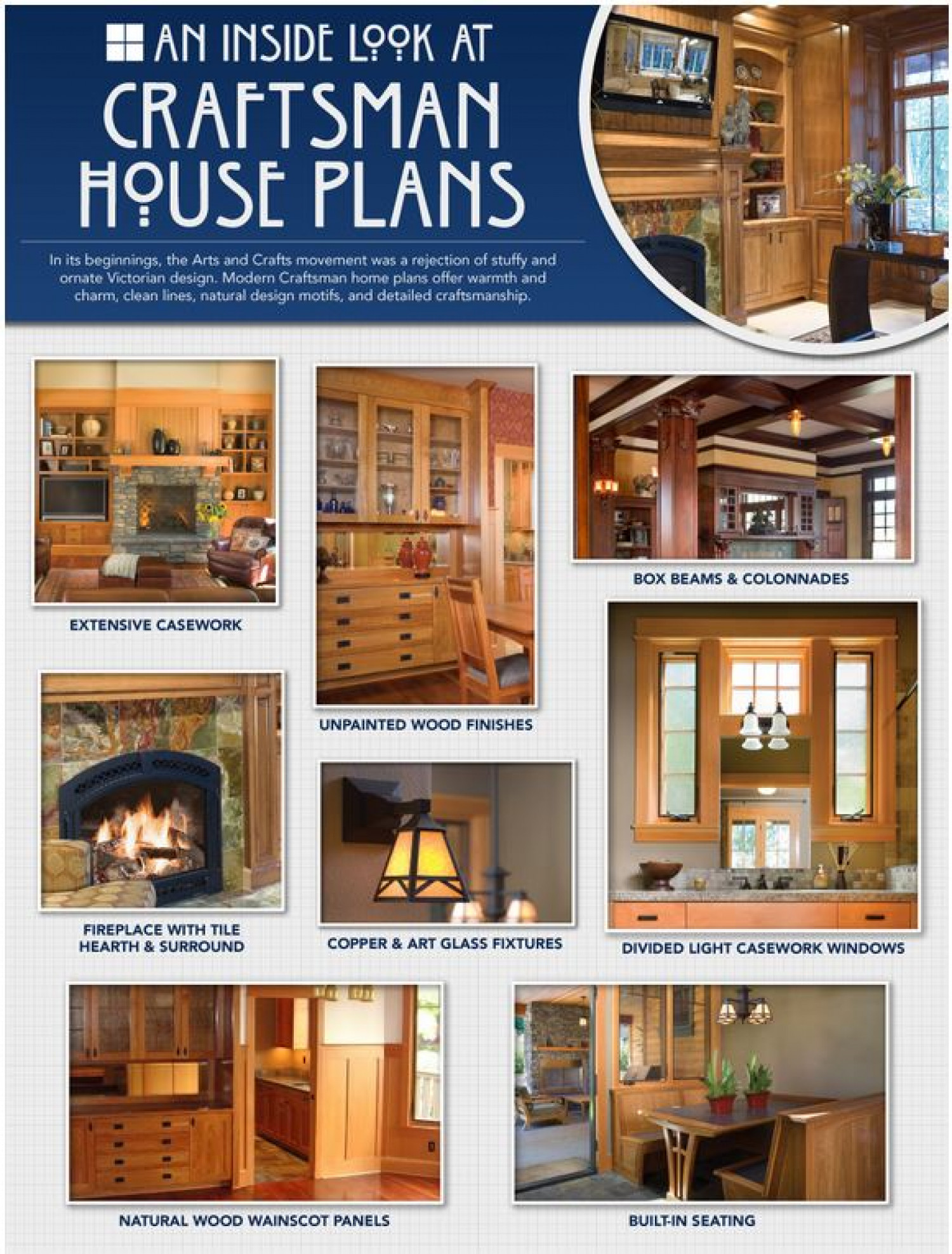 An Inside Look at Craftsman House Plans Infographic
