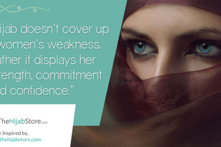 An Inspiring Quote on Hijabs Infographic
