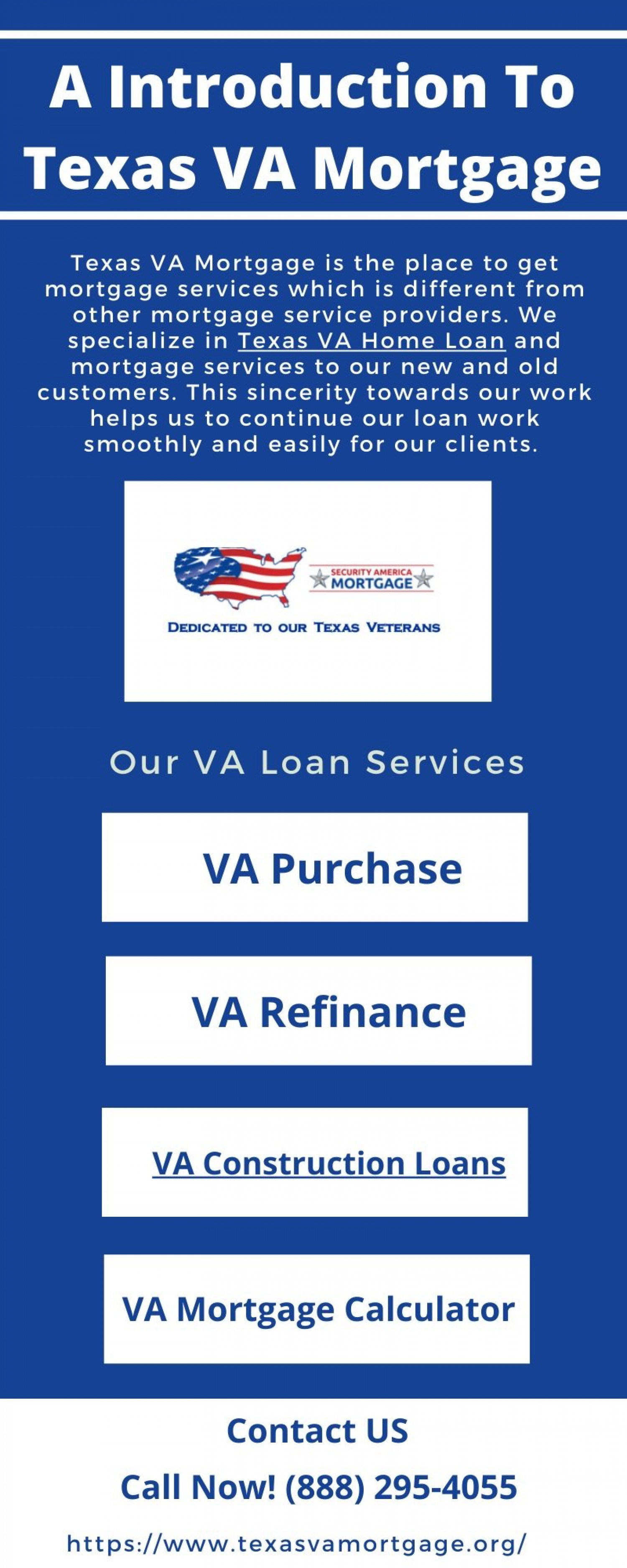 An Introduction To Texas VA Mortgage Infographic
