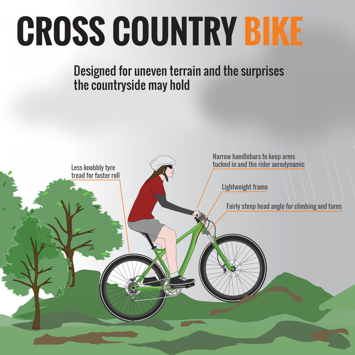 Anatomy of a Bicycle (Part IV) - Cross Country | Visual.ly